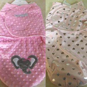 Bundle of 2 Baby Girl Swaddles